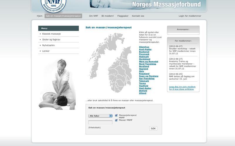 Søk etter medlemmer i Norges Massasjeforbund (2008)