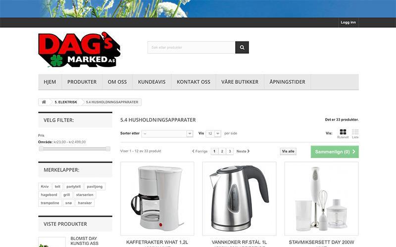 Dags Marked - Online katalog