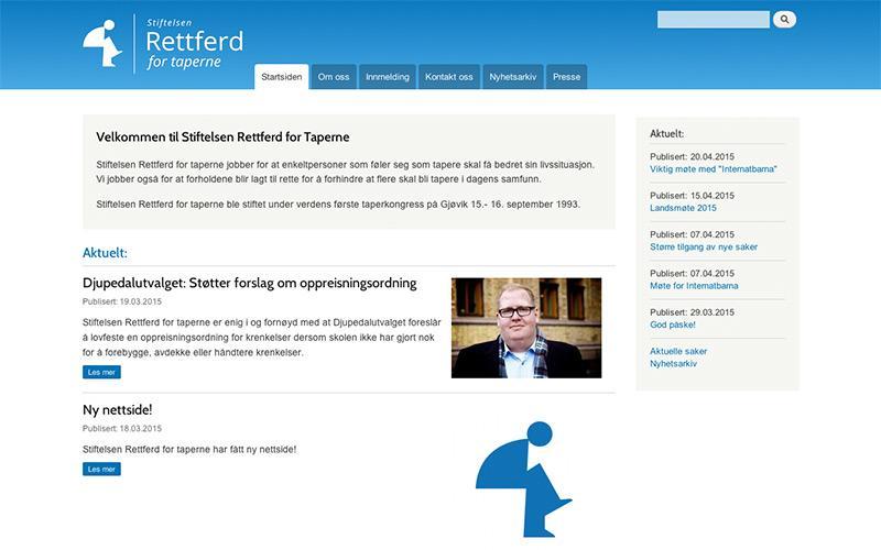 Stiftelsen Rettferd for Taperne - ny webside